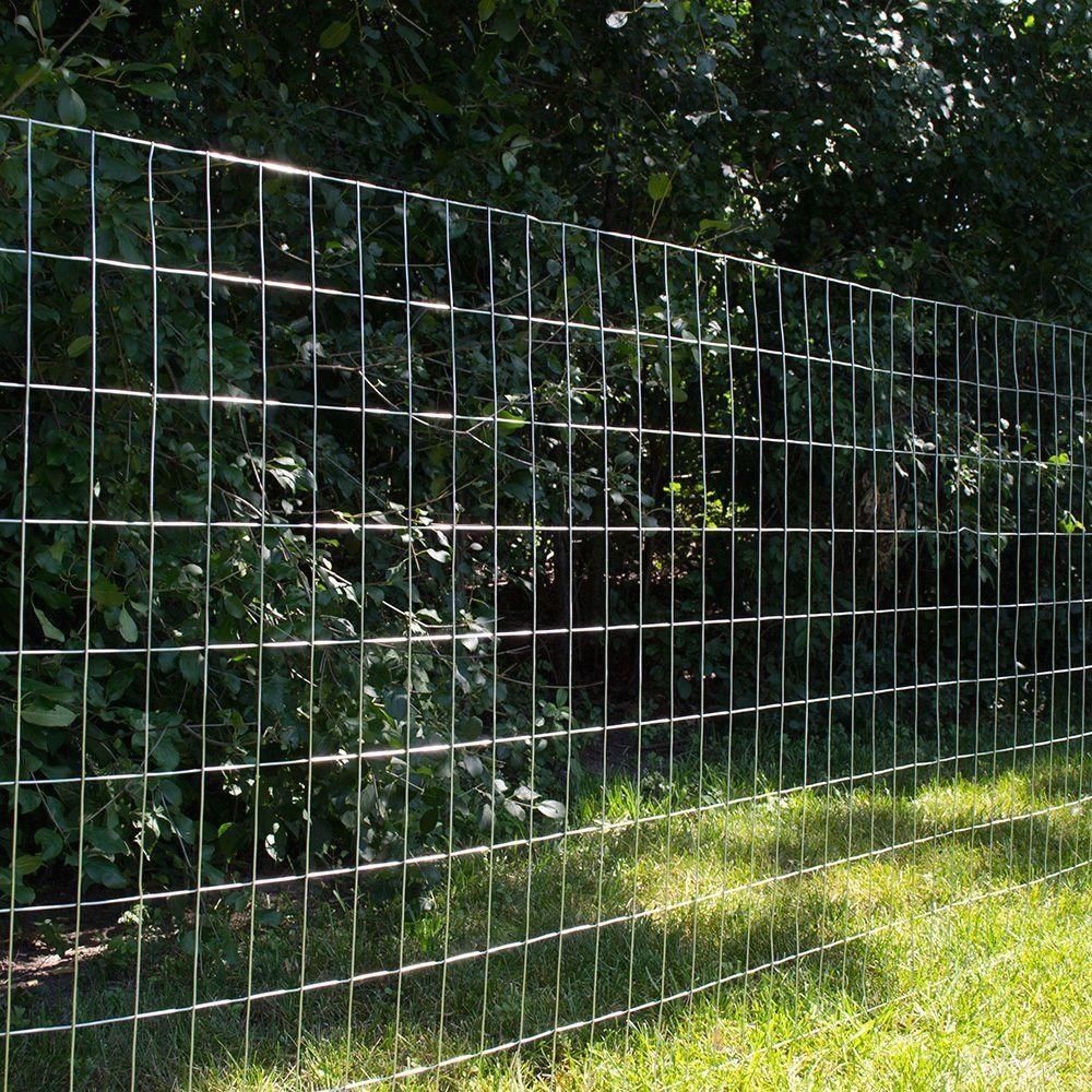 Everbilt 4 Ft X 50 Ft 14 Gauge Galvanized Steel Welded Wire 308302hd The Home Depot 1000 In 2020 Wire Mesh Fence Welded Wire Fence Wire Fence