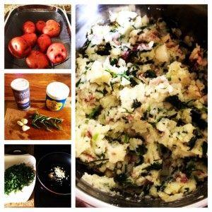 Rosemary Garlic Kale Mashed Potatoes