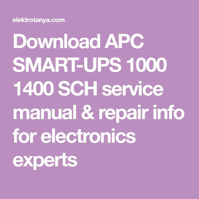 Apc Smart Ups 1000 Circuit Diagram - Somurich com
