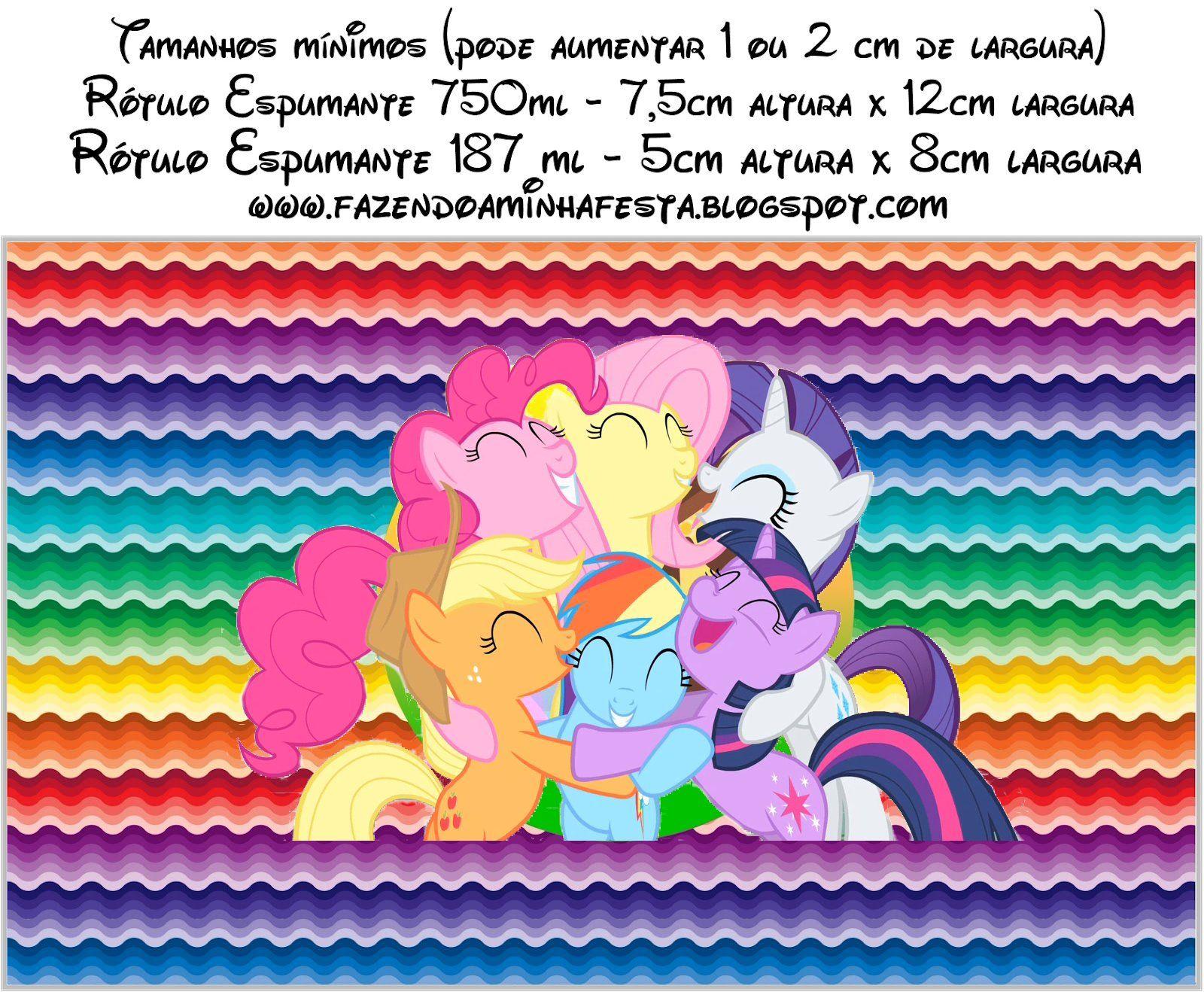 Tarjetas De Invitacion A Cumpleaños De My Little Pony Para