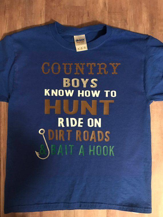 9bba63de Country Shirt, Country Boys Shirt, Shirts for Boys, Hunting Shirt, Fishing  Shirt