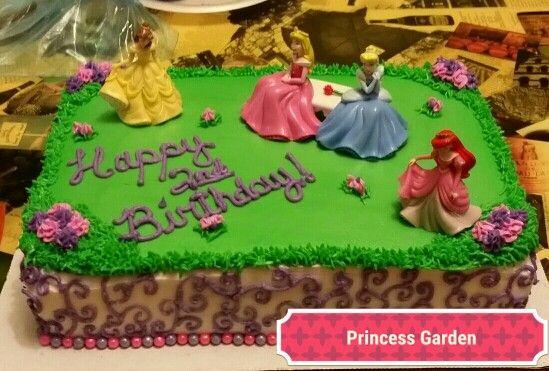 Disney Princess garden cake