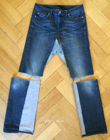 Jeans Upcycling oder wie aus der Hose ein Rock wird ...