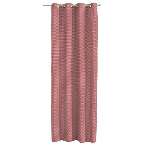 Picture Eyelet Single Curtain Dekoria Size Per Panel 130 W X 260 D Cm Colour Red Ecru Curtains Thermal