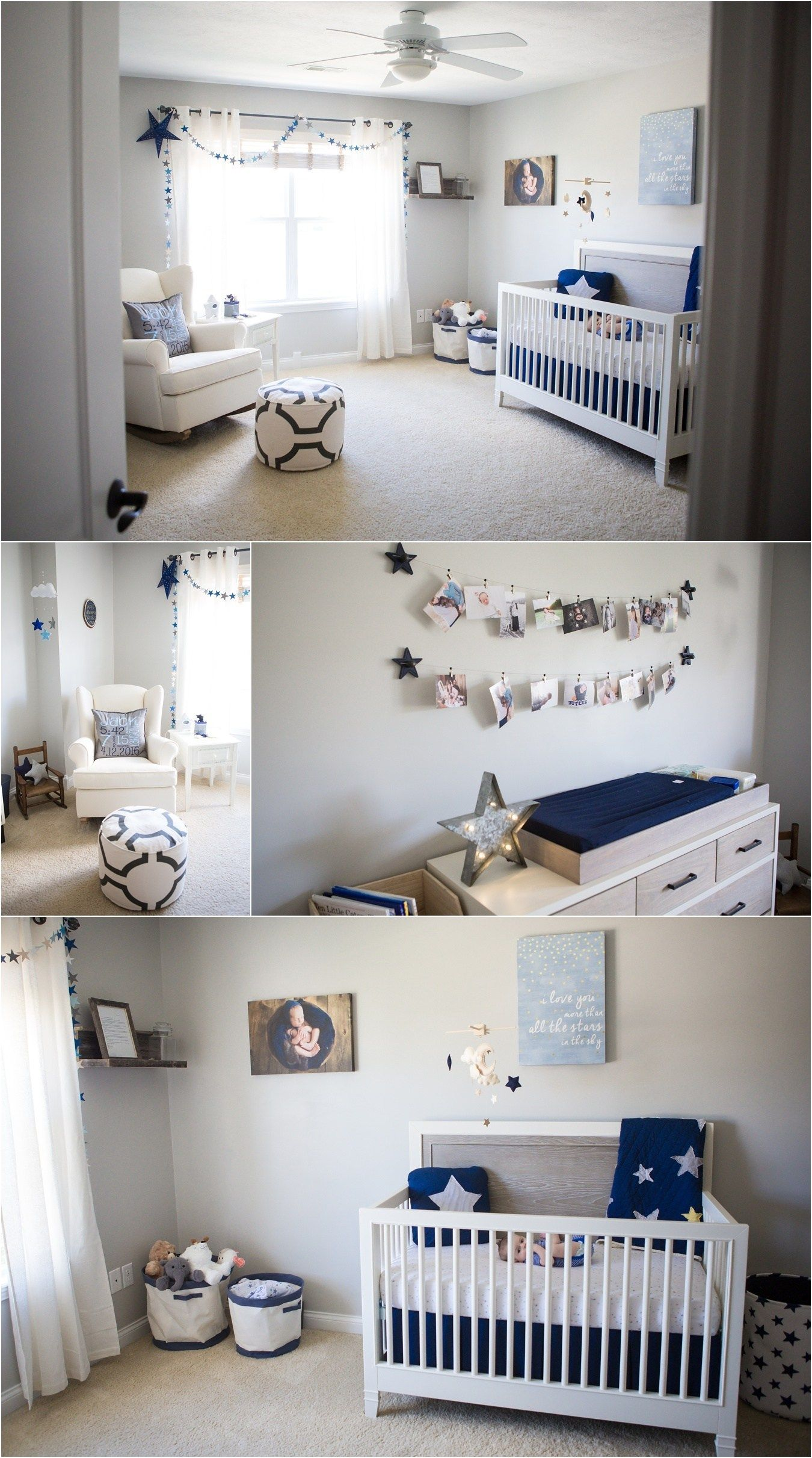 Star Moon Themed Boy S Nursery Grey