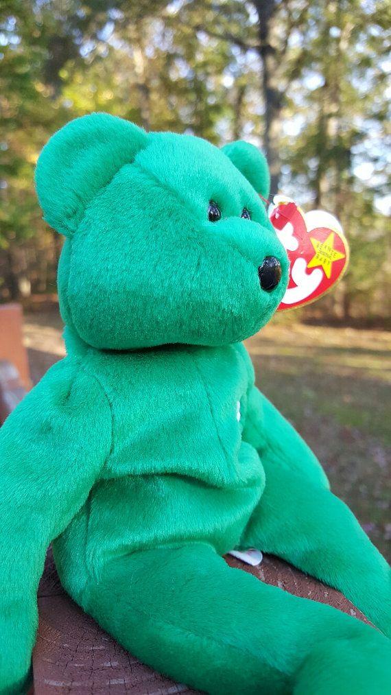 bd135475291 A little bit of luck never hurt anyone. Ty Beanie Baby - ERIN the Bear