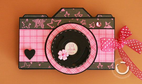 camera shaped mini albumbbscraps  cards and paper