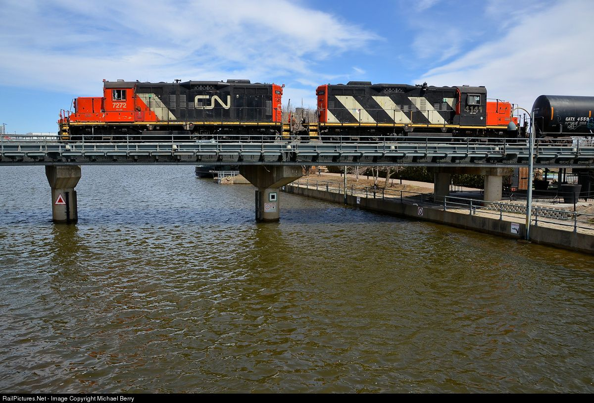 RailPictures.Net Photo: CN 7272 Canadian National Railway EMD GP9 at Montreal, Quebec, Canada by Michael Berry
