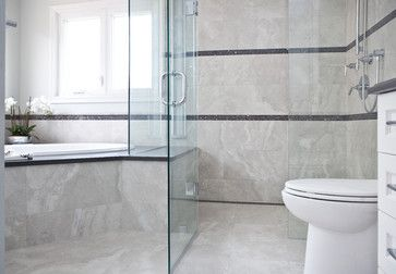 Transitional Bathroom Renovation located in Oakville ...