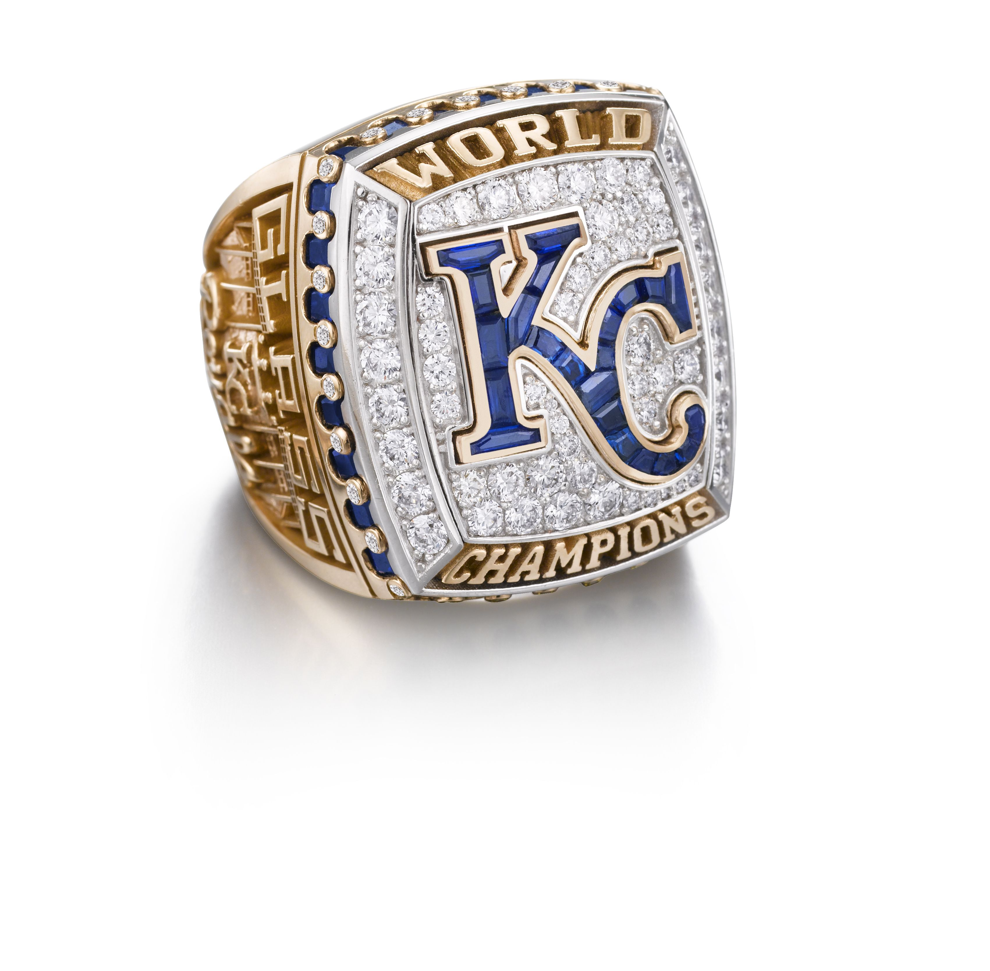 Kansas City Royals Presented With 2015 World Series Championship Rings By Jostens Rings Championship Rings Super Bowl Rings