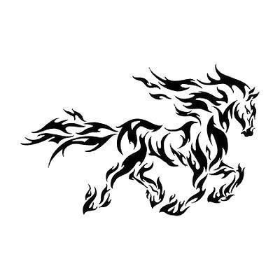 Small Beautiful Tribal Horse Style Tribal Color Black Tags Cool Best Beautiful Awesome Tribal Horse Tattoo Horse Tattoo Design Horse Tattoo