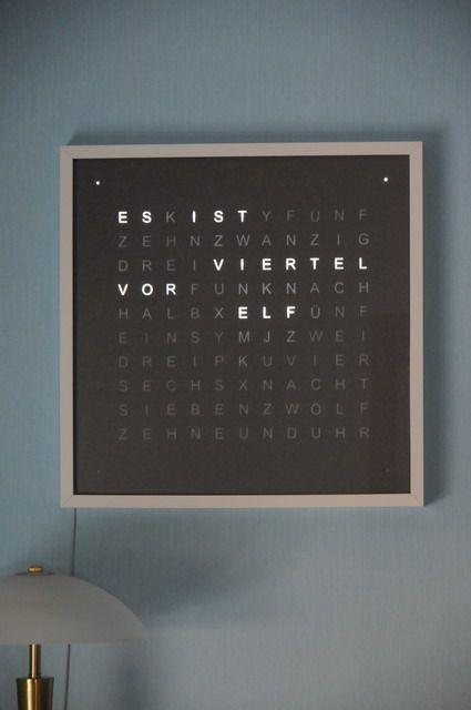 Words Clock Word Clock Qlocktwo Replica Clock Devices Qlocktwo Replica Word Words Dorm Room Decor Diy Diy Clock Dorm Room Diy