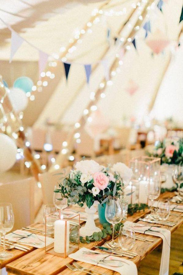 zelthochzeit mal anders im tipi wedding tischdekoration hochzeit vintage hochzeit und. Black Bedroom Furniture Sets. Home Design Ideas