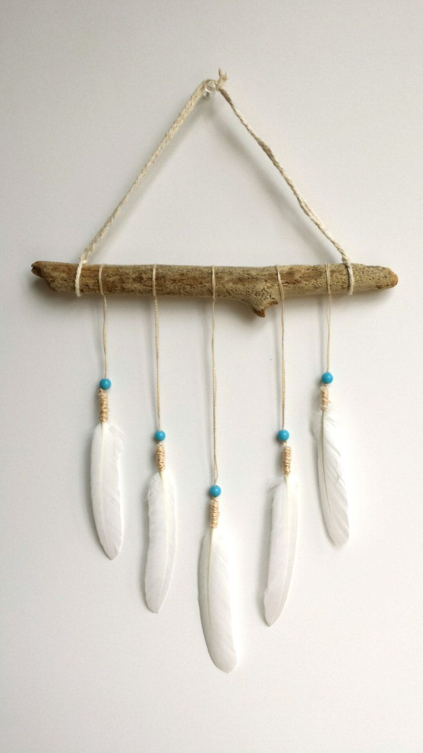 Native American Home Decor Freebird Feather Wall Hanging Light Airy Driftwood Native American
