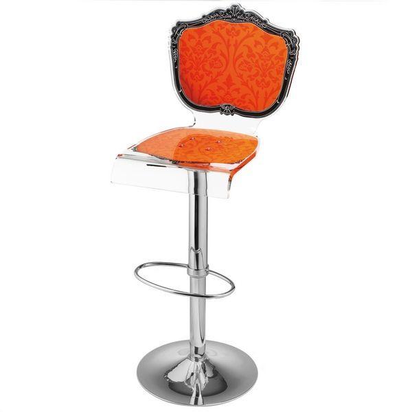 tabouret de bar rglable baroque orange - Tabouret Bar Orange