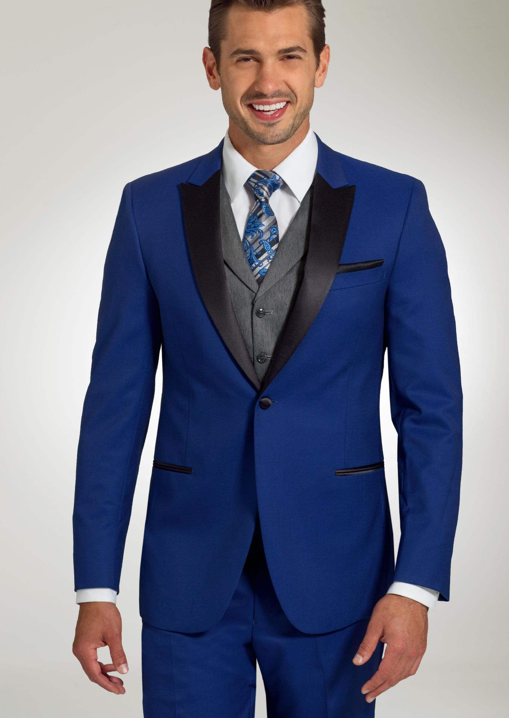 Cobalt blue tuxedos seemed to be more popular than every