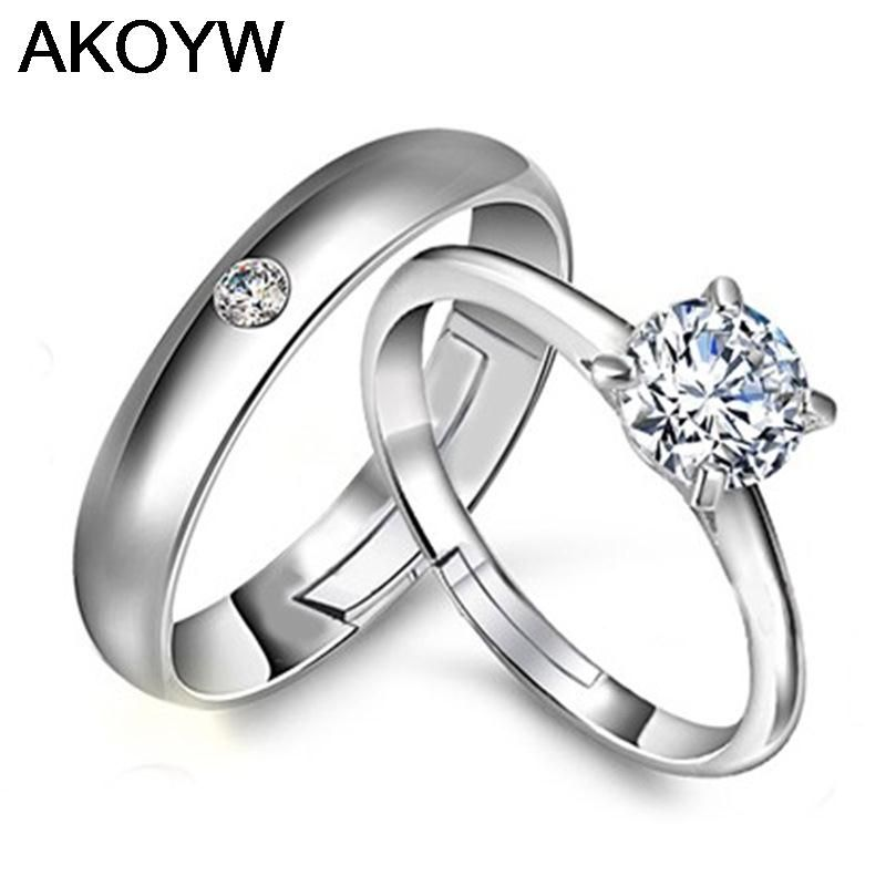 Silver Colour ring opening couple of female models wild fashion ...