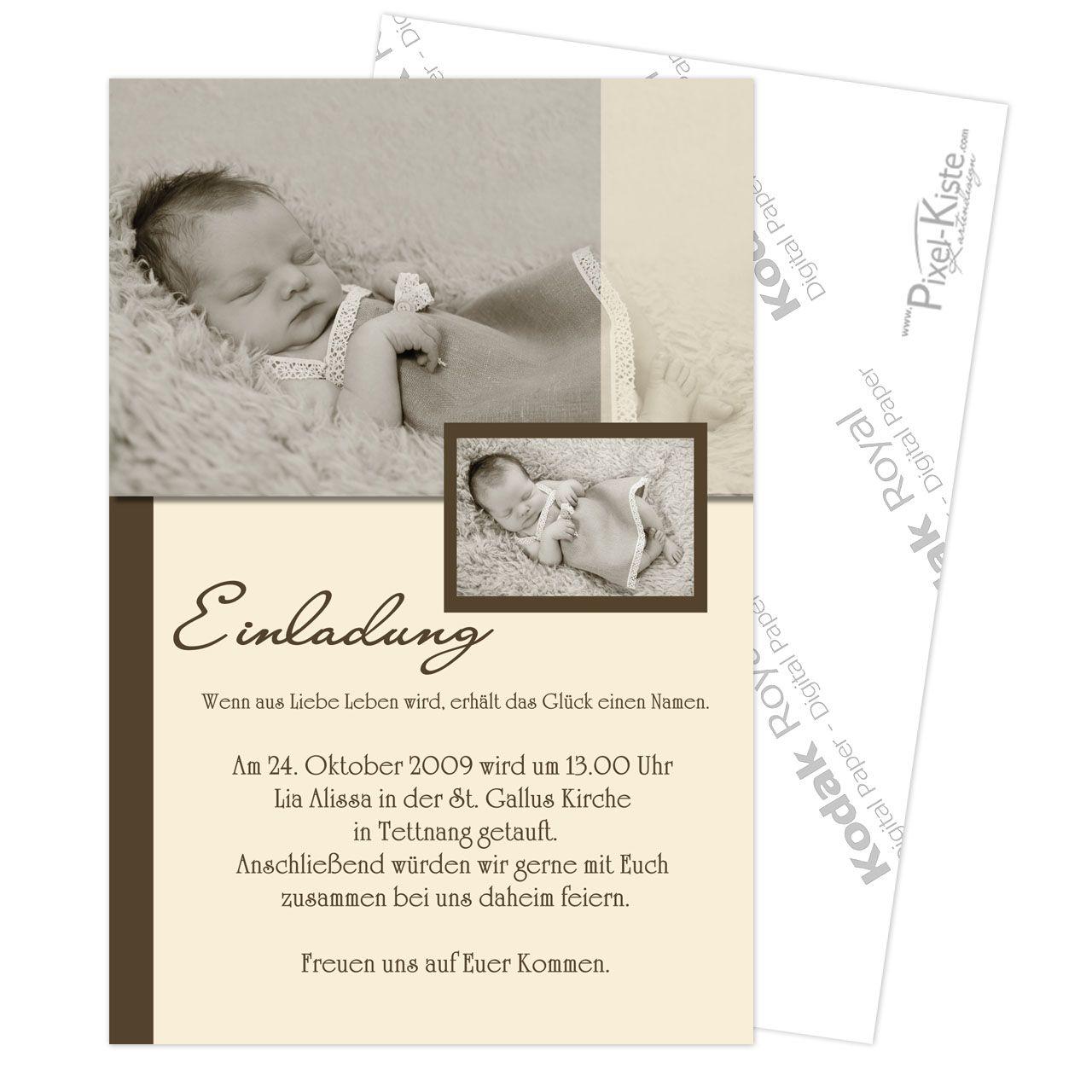 Einladung Zur Taufe Mit Foto Einladungskarten Taufe