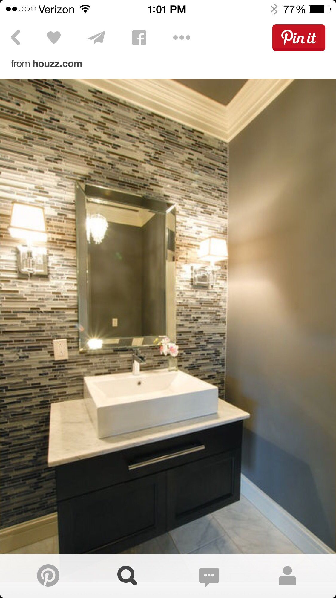 Amir Bathroom. Backsplash Tiles With Simple Vanity And