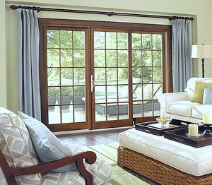 Glass Door Designs For Living Room Custom Sliding Door Window Treatment  Lakehouse  Pinterest  Sliding Inspiration Design