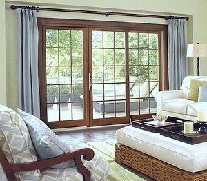 Glass Door Designs For Living Room Pleasing Sliding Door Window Treatment  Lakehouse  Pinterest  Sliding Design Decoration