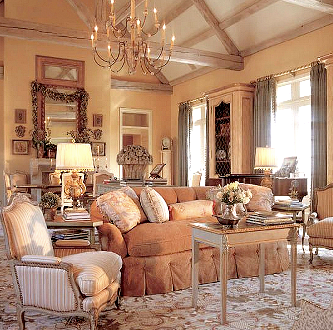 remarkable french country living room furniture | Designer Spotlight: Charles Faudree • It's All In The Mix ...