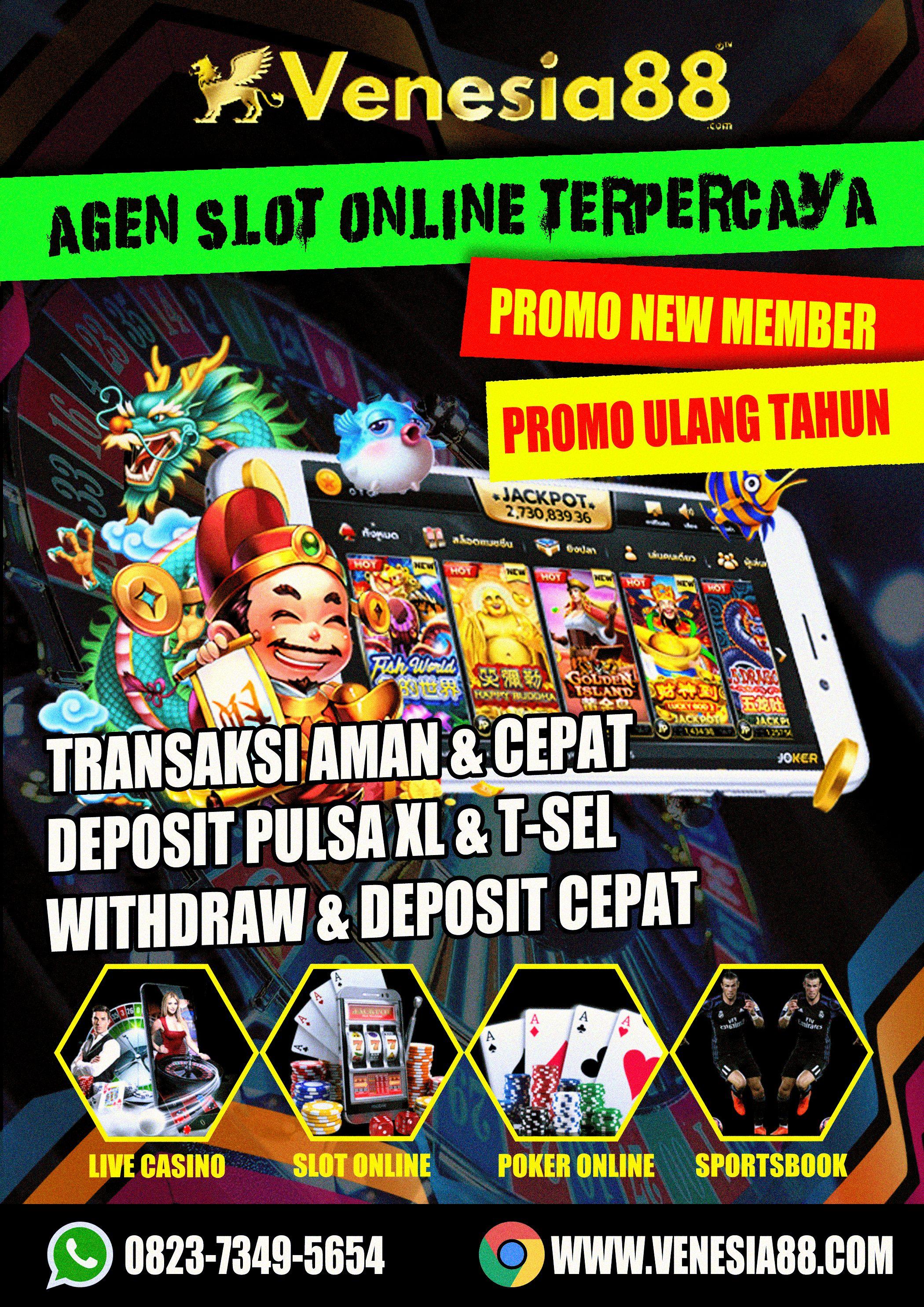 Pin Di Judi Slot Online Terpercaya Deposit Pulsa