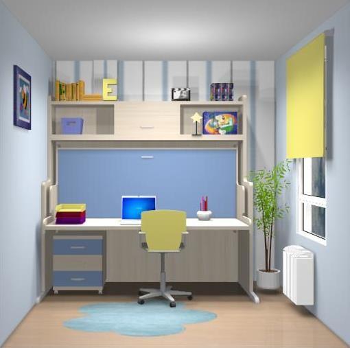 Cama convertible en mesa ideal para habitaciones - Camas con escritorio ...