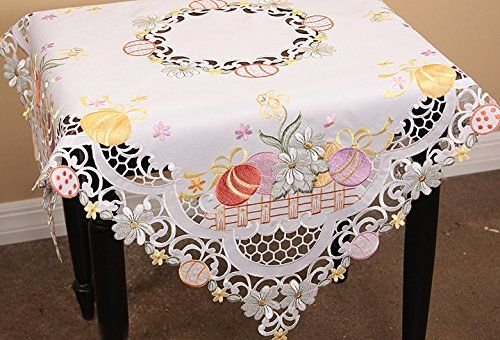 Matching Placemats Doilies Table Runner Table Topper And Tray Cloth Available Whimsical Easter Des Holiday Table Linens Table Toppers Christmas Table Toppers