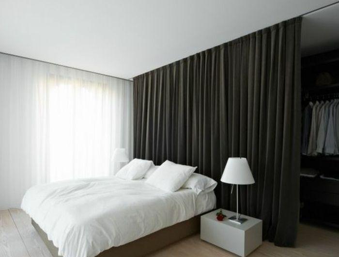 La s paration de pi ce amovible optez pour un rideau chambre rideaux chambre et for Separateur de chambre