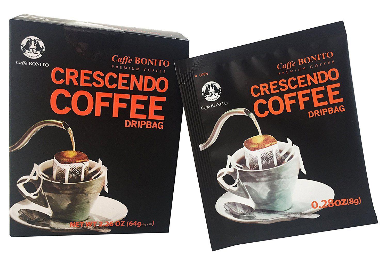 Caffe BONITO Crescendo Ground Coffee in a Dripbag, Easy