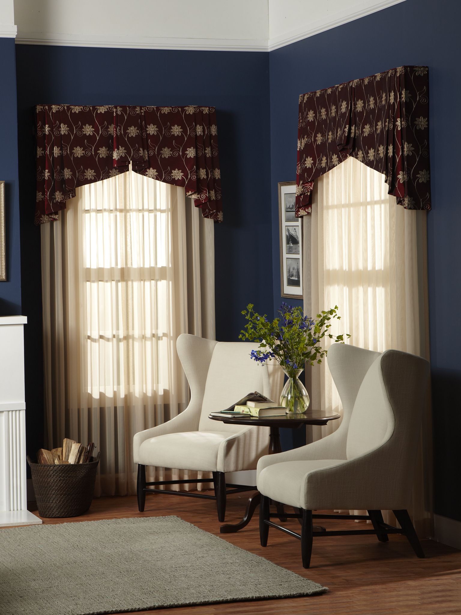 curtain montana morning p rustic chocolate and x treatments treatment pair window wide valance curtains tailored