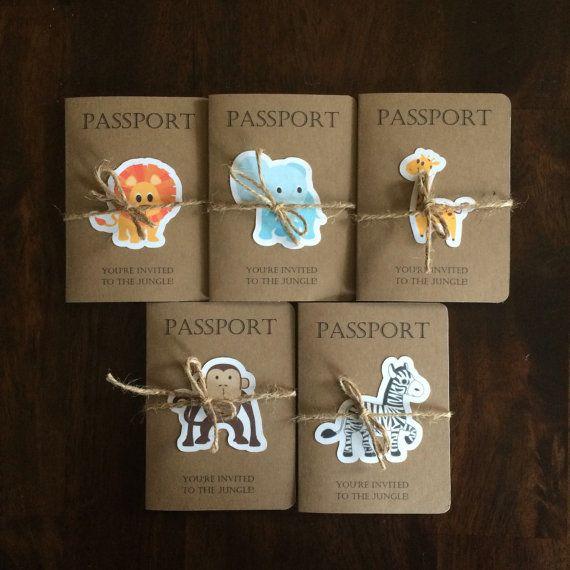 Pass Für Den Dschungel Geburtstag Einladung Safari Kids Einladung Zum  Kindergeburtstag Set 15