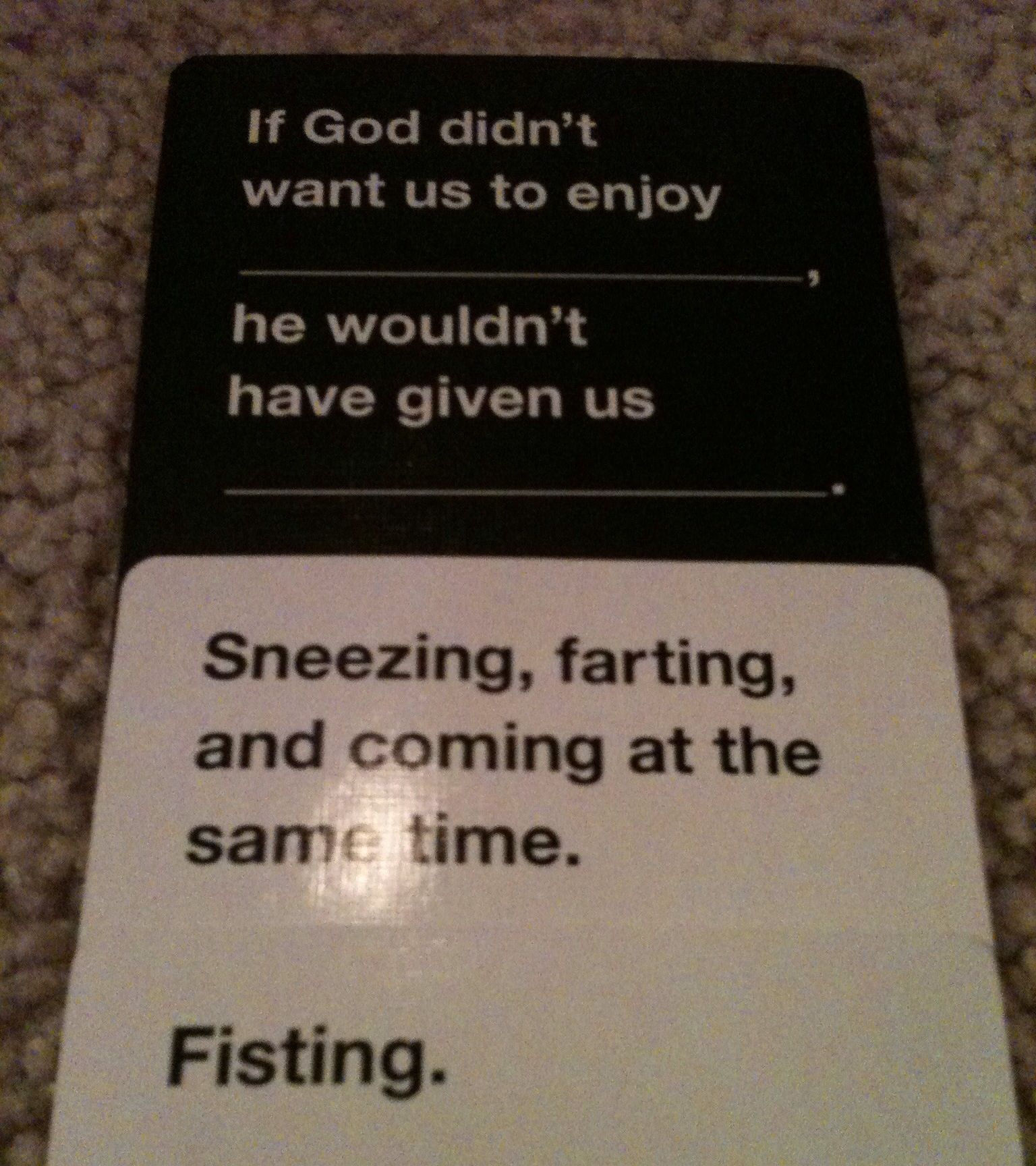 97f0dabe4a5e265d71393525b4f1afa6 cards against humanity funniest card combo i've ever seen