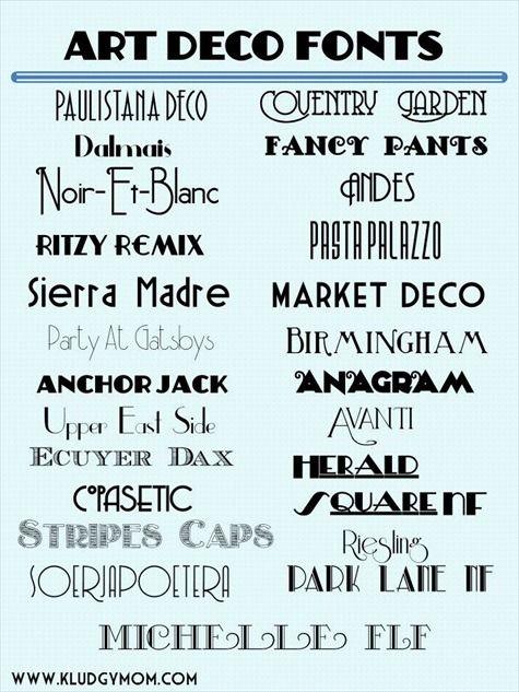 art deco fonts, new year\u0027s fonts, gatsby fonts Design