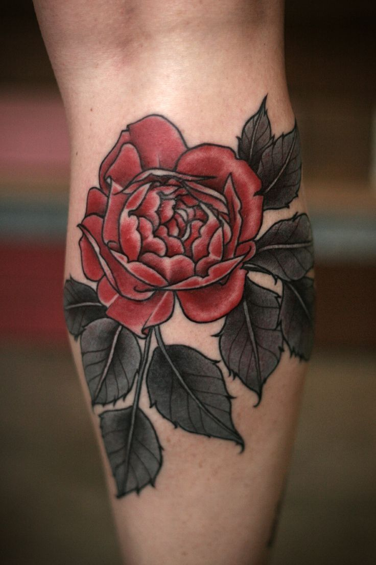 Vintage Rose Tattoo Black Leaves Vintage Rose Tattoos Tattoos Rose Tattoos