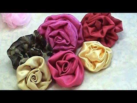 17+ Rolled fabric rose tutorial inspirations