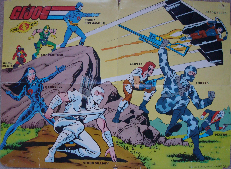 Poster from 1984 G.I.Joe coloring book | COBRA / G.I. Joe ...