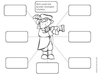 Christopher Columbus printable activity black and white