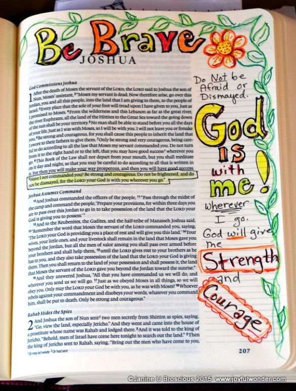 Joyful Wonder Bible Art Journaling http://www.joyfulwonder.com/2015/01/30/bible-art-journaling/