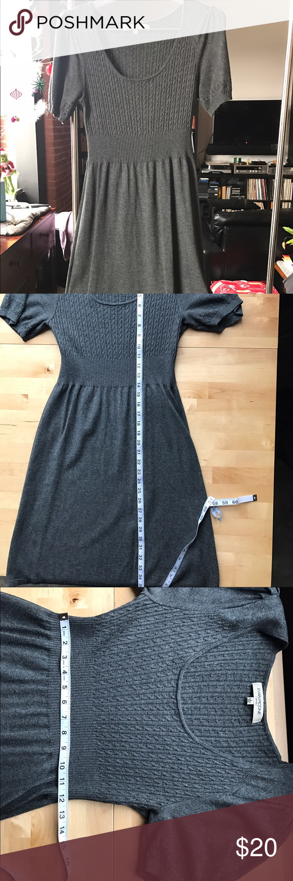 Cute a-line sweater dress Absolute must for your closet. Great fall/winter dress Evan Picone Dresses