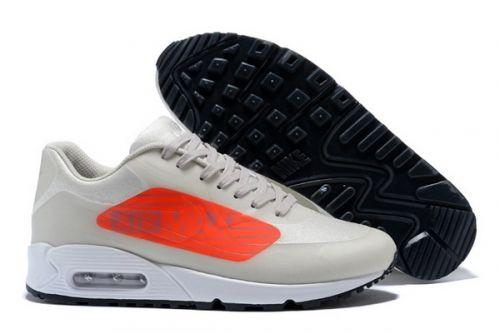 Men Nike Air Max 90 NS GPX Big Logo Grey Orange White AJ7182-001 ... 0c12ed7ff
