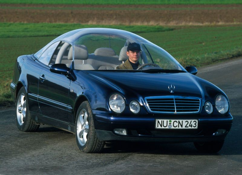 This Is The Mercedes Benz Clk Klasse Glass Roof Experimental Car And The Only Thing I Know About It Glass Roof Car Model Mercedes Benz
