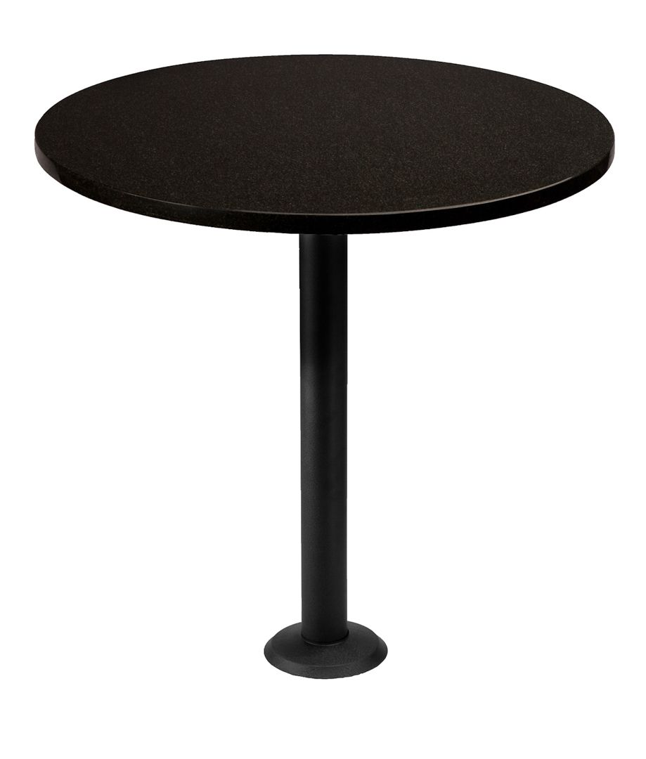 Our P1F Bolt Down Table Base, Used To Support A Round Granite Table Top.