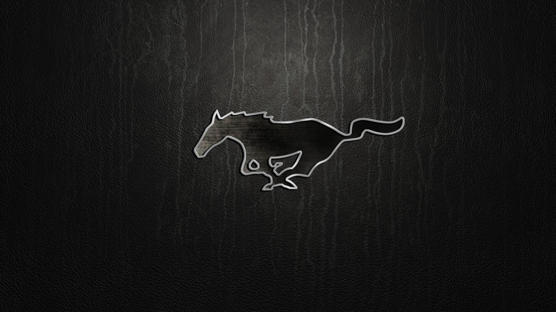 Mustang logo wallpaper for iphone