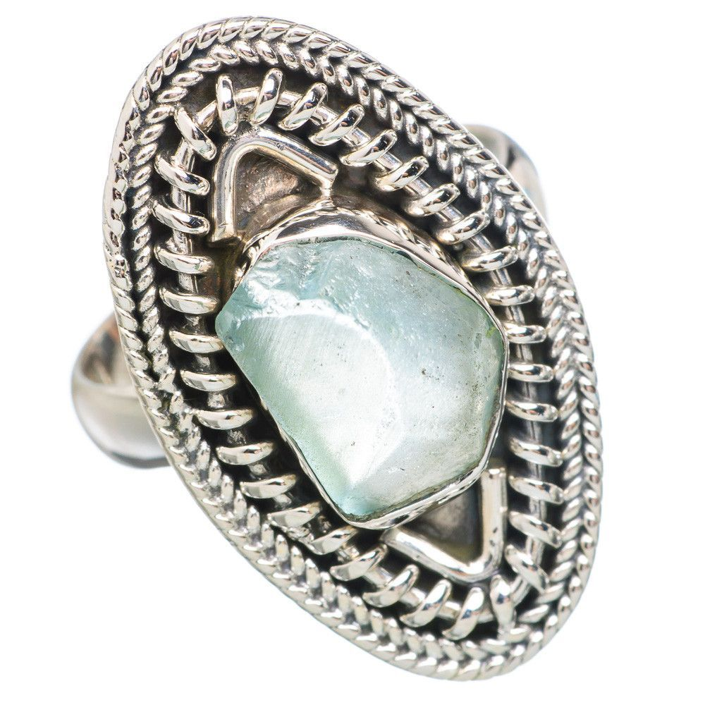 Rough Aquamarine 925 Sterling Silver Ring Size 7 RING755602