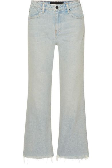 Cheap Discounts Cropped Frayed High-rise Straight-leg Jeans - Light denim Alexander Wang With Mastercard For Sale Free Shipping Largest Supplier Low Price Fee Shipping Sale Online Buy Cheap Footlocker Finishline OMlMrer