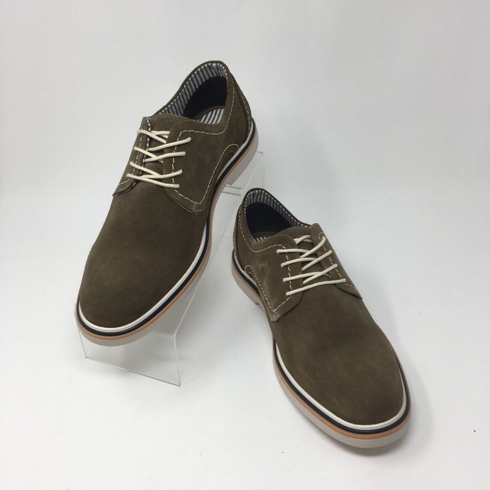 7c6eff01c87 Steve Madden Frick Men s Oxford Buck Shoes Taupe Suede Lace Up Casual Size  8.5