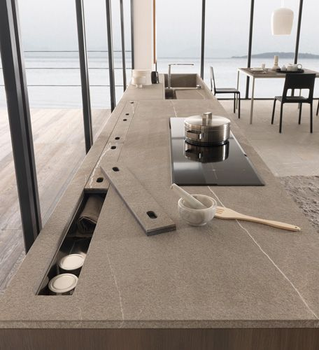 cucina con isola centrale in stile moderno | Cucine | Pinterest ...