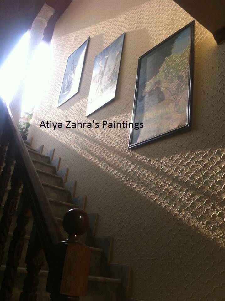 I just love that view of #Paintings and sunlight in my home..!! For more join me here: www.facebook.com/atiyaf1 www.atiyazahrapaintings.com